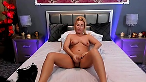 Blonde with her Cock Dirty Talks to You